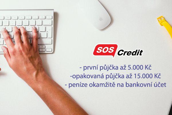 Nová rychlá půjčka na účet bez příjmu a bez registru ihned na účet SOScredit